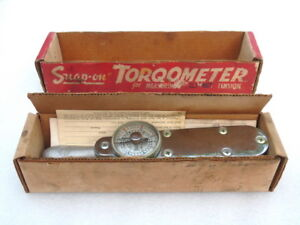 NOS-SNAP-ON-TORQOMETER-TORQUE-WRENCH-BOLT-NUT-TENSION-VINTAGE-CAR-WHEEL-BEARING