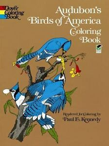 Dover Nature Coloring Book Audubons Birds Of America By John James Audubon 1974 Paperback