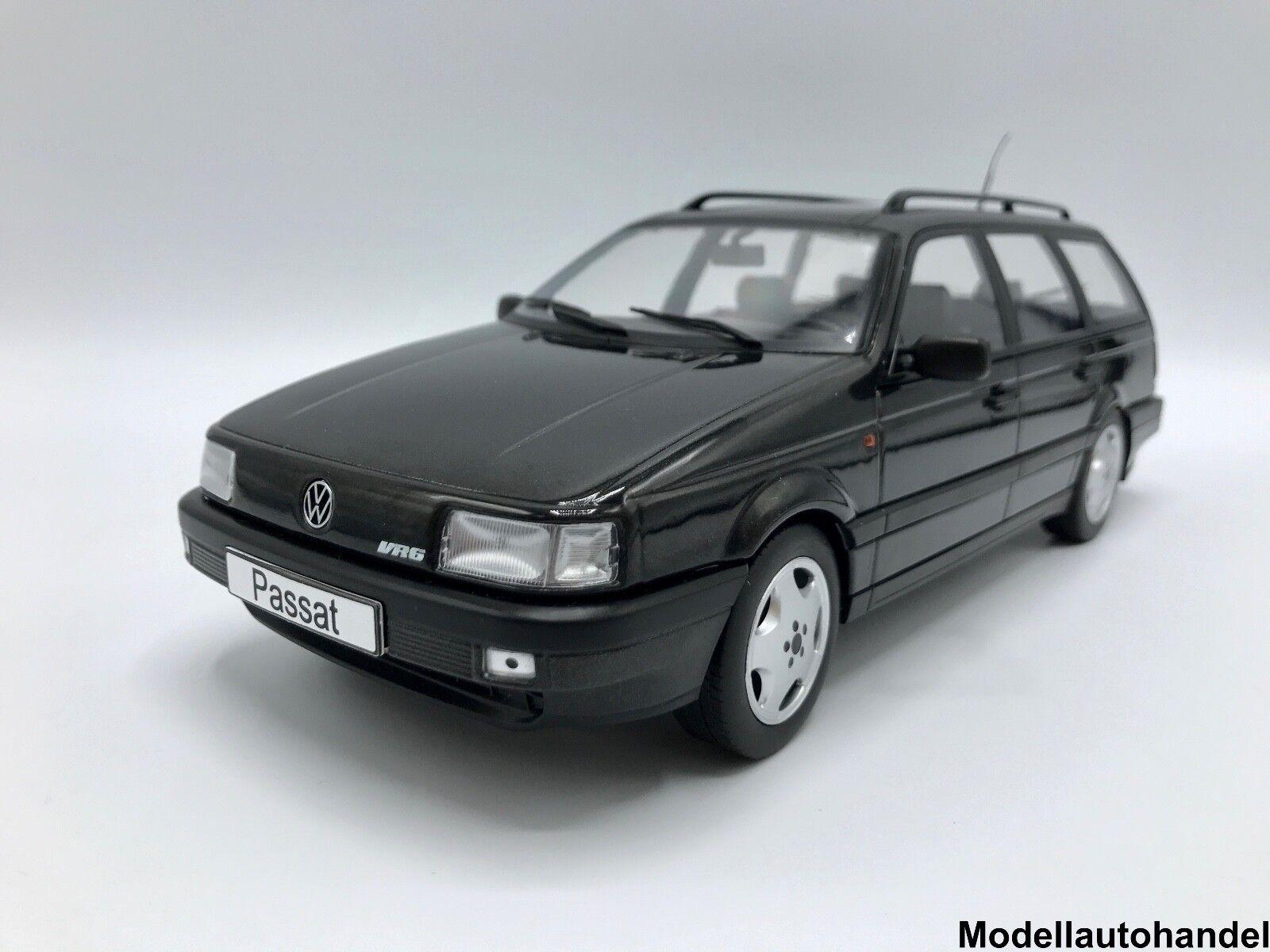 VW Volkswagen Passat b3 vr6 Variant 1988-metálico-negro - 1 1 1 18 KK-Scale 7db3bb