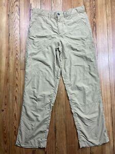 boys patagonia tan nylon pants 16-18 hiking outdoors activewear