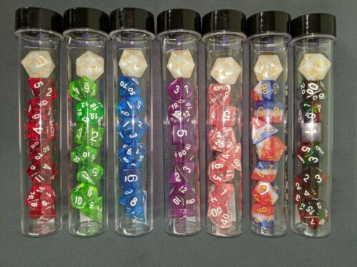 New in Tube Choose Your RPG Game Poly Dice Set with Bonus D20 Sirius