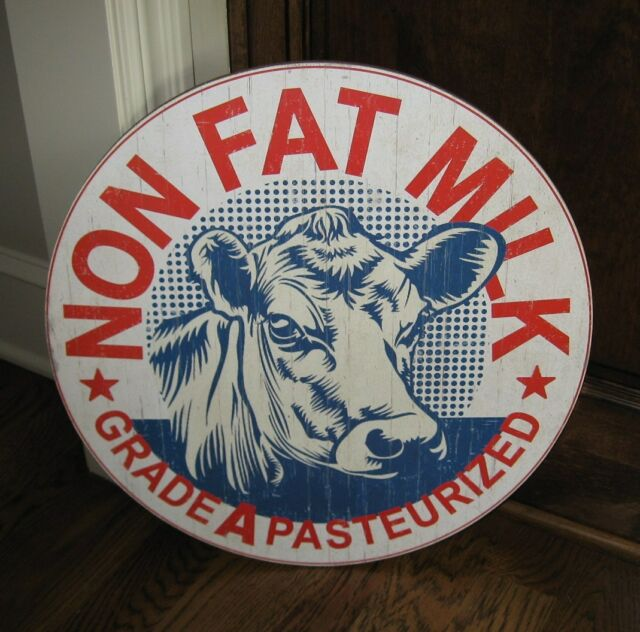 BIG Dairy Milk COW Wall SIGN*Primitive/French Country Kitchen Farmhouse Decor