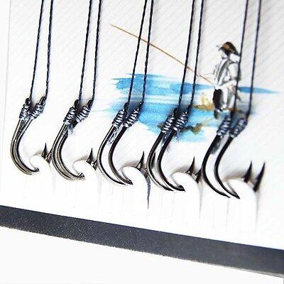 Free Shipping 70 Pcs (7sizes) YISHINI Anti-bite Line Fishing Hooks
