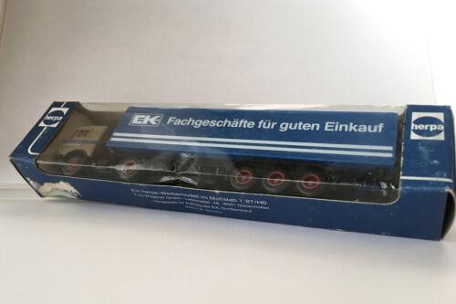 """Herpa   M1:87 MB-NG Koffersattelzug /""""Scheunenfund/"""" Werbemodell alt"""