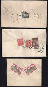 NEPAL-TO-TIBET-CHINA-1950s-THREE-COVERS-KATHMANDU-TO-LHASA-DIFF-FRANKING