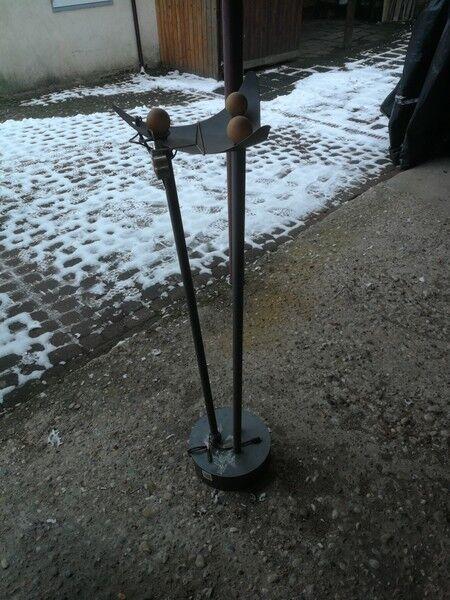 Z42 Y726   Nur Untergestell Metall Schale Licht Brunnen beleuchtet Wasserspiel