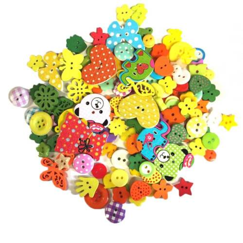 150 x Wooden Resin Mix Buttons Craft Scrapbooking Sewing Cardmaking UK