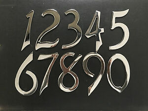 112mm-4-5-034-Chrome-House-Door-Numerals-Number-Numbers-Sign-Rare-SELF-ADHESIVE