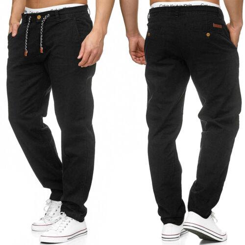 INDICODE Herren Leinenhose Chino Hose Cargo Jeans Stoffhose leichte Sommer Pants