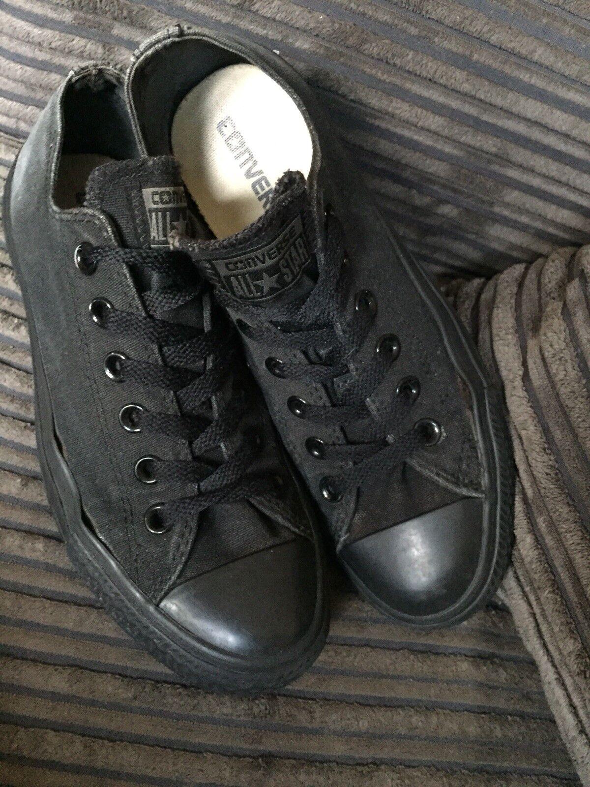 Bottes femme noires Low Top Converse Baskets, Taille 5, Habillées