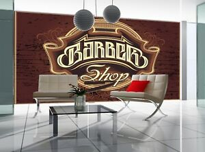 Details About Barber Shop Photo Wallpaper Wall Mural Decor Paper Poster Free Paste