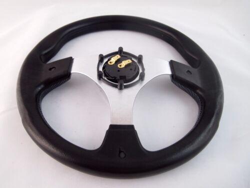 "Boat Steering wheel W// Adapter 3 spoke 3//4/"" tapered key Marine Carbon fiber"