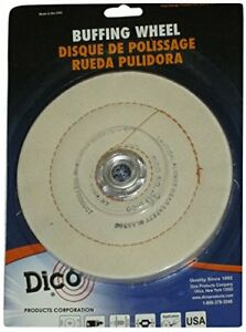 Dico 527-36-6 Cushion Sewn 6-Inch Diameter 1/2-Inch Thick Buffing Wheel