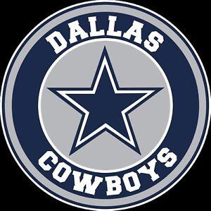 dallas cowboys circle logo vinyl decal sticker - you pick the size   ebay  ebay