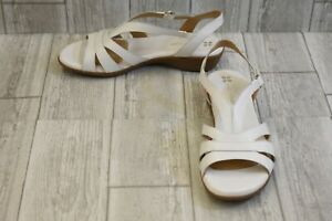 Naturalizer-Neina-Strappy-Leather-Slingback-Sandals-Women-039-s-Size-8-5M-White
