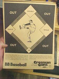 FT4-Vintage-RARE-Crosman-Air-guns-target-Coleman-co-BB-Baseball-8-5-034-x-11-034