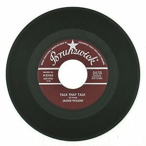 JACKIE-WILSON-Talk-That-Talk-Only-You-Only-Me-7IN-VG