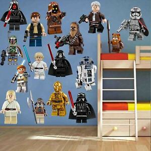 16pcs Lego Star Wars Removable Wall Decal Sticker Decor Bedroom Kids