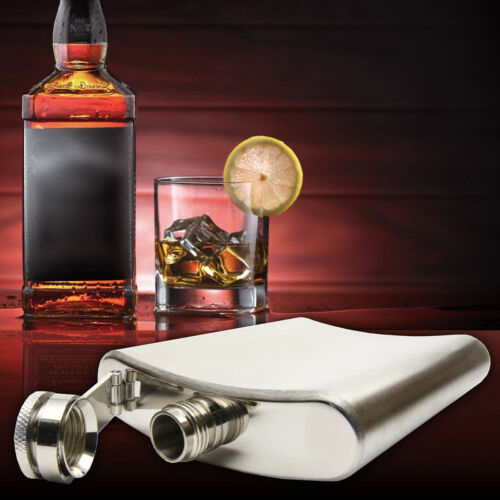 Hip Flask 8 //10OZ Stainless Steel Pocket Drink Holder Whisky Vodka Bottle Useful