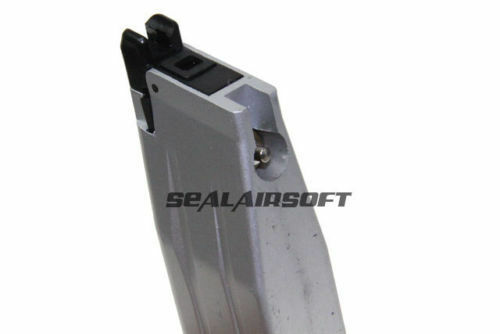 WE 28rds Gas Airsoft Toy Magazine For WE Hi-Capa 5.1 4.3 3.8 P14 GBB Silver 003