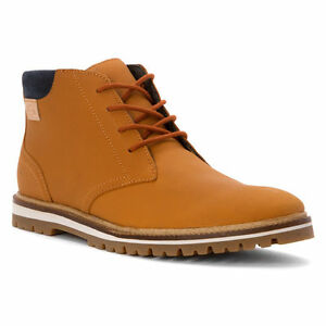 6ed8baf2e3dc5 Lacoste Montbard Chukka SRM Leather Sneaker Shoe Tan Ankle Boot Men ...