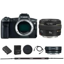 Canon EOS R Mirrorless Digital SLR Camera + 50mm 1.4 EF USM Lens + Mount Adapter