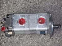 jcb steering pump double