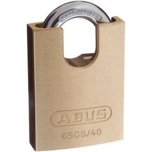 ABUS 65CS40 40mm -KEYED ALIKE Brass Bodied Padlock-FREE POST