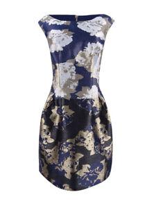 Vince-Camuto-Women-039-s-Metallic-Jacquard-Fit-amp-Flare-Dress