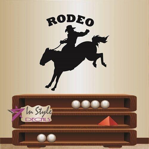 Wall Vinyl Decal Rodeo Cowboy On Horse Western Boy Man Wall Art Sticker 708 For Sale Online