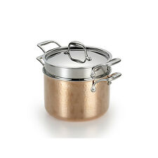 Lagostina Martellata Hammered Copper 6-Qt. Pastaiola Set w/Lid and Pasta Insert