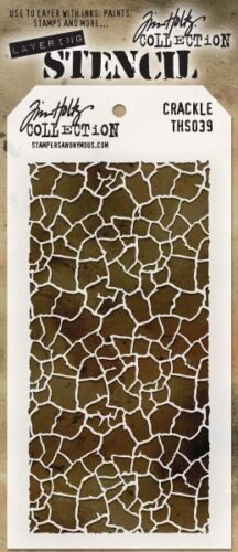 Crackle Stampers Anonymous Stencil Tim Holtz