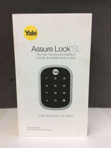 Satin Nickel Yale Real Living Assure Lock SL Key-Free Touchscreen Deadbolt