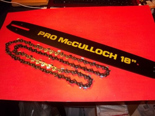 """PRO McCULLOCH 18/"""" CHAINSAW BAR /& CHAIN FITS McCULLOCH 600 700 800 SERIES 39508"""