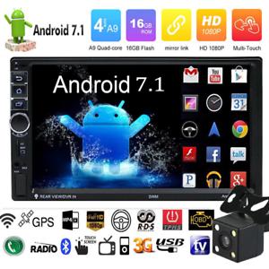 Quad-Core-Android-7-1-WIFI-7-034-2DIN-Radio-De-Coche-Estereo-MP5-GPS-Player-Camara