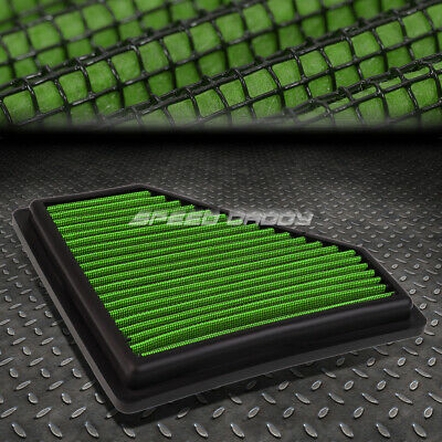 FOR 00-04 FORD FOCUS 2.0L GREEN REUSABLE//WASHABLE DROP IN AIR FILTER PANEL
