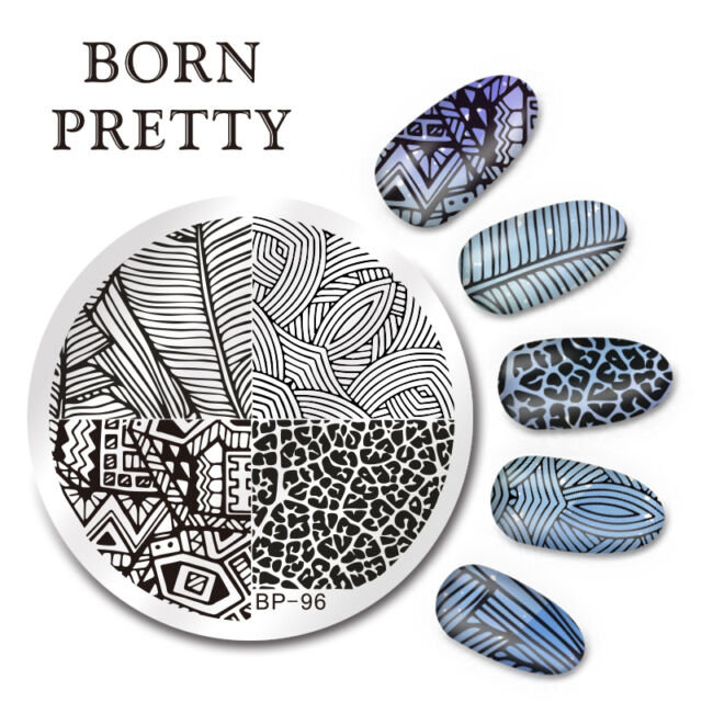 BORN PRETTY Nail Art Stamping Image Plate Stencil Line Stripe Design DIY BP-96