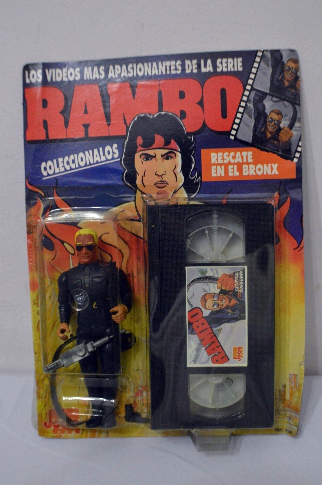 ULTRA RARE 1988 - silverINA RAMBO  GENERAL WARHAWK  MOC VHS SERIES