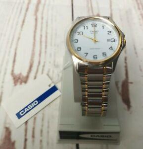 Moderne-Casio-mtp-118-Quartz-Japan-watch-unbenutzt-mit-Verpackung-Armbanduhr