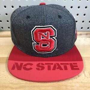 North Carolina NC State Wolfpack NCAA Adidas Climalite Snapback Cap NWT Hat Gray