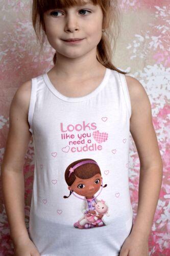 Girls Vest and Pants Set Disney Characters  Briefs Vests Doc Mc Stuffins