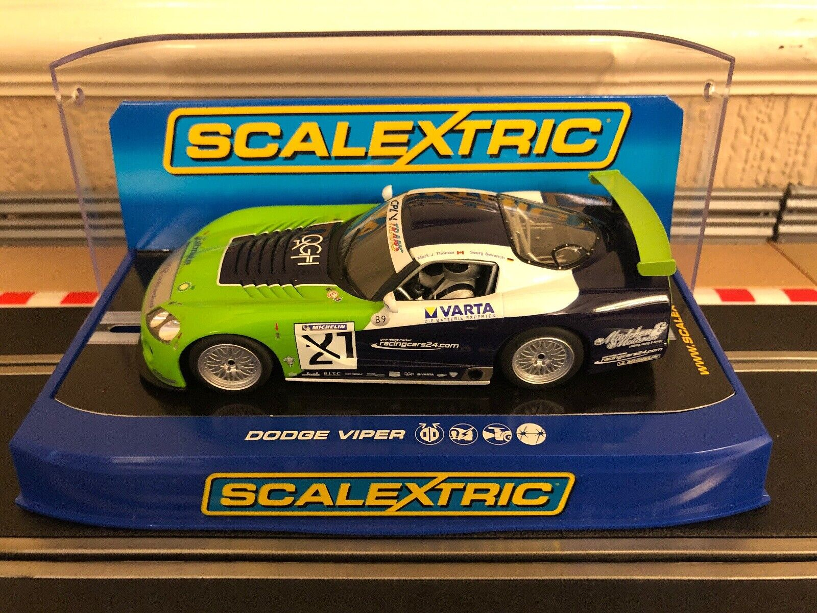 Scalextric Dodge Viper Competition Coupe G.S Racing No21 C3018 Great Condition