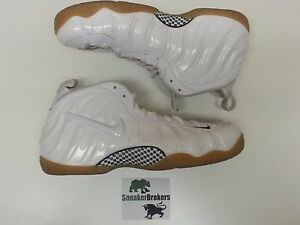 los angeles 226df ab89c Image is loading Nike-Air-Foamposite-Pro-White-Gorge-Green-Gym-