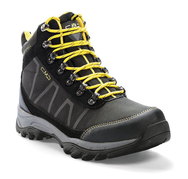 CMP Uomo Trekking Scarpa Soft Naos WP TAGLIA 41 44 45 46 NERO Wanderschuh Outdoor