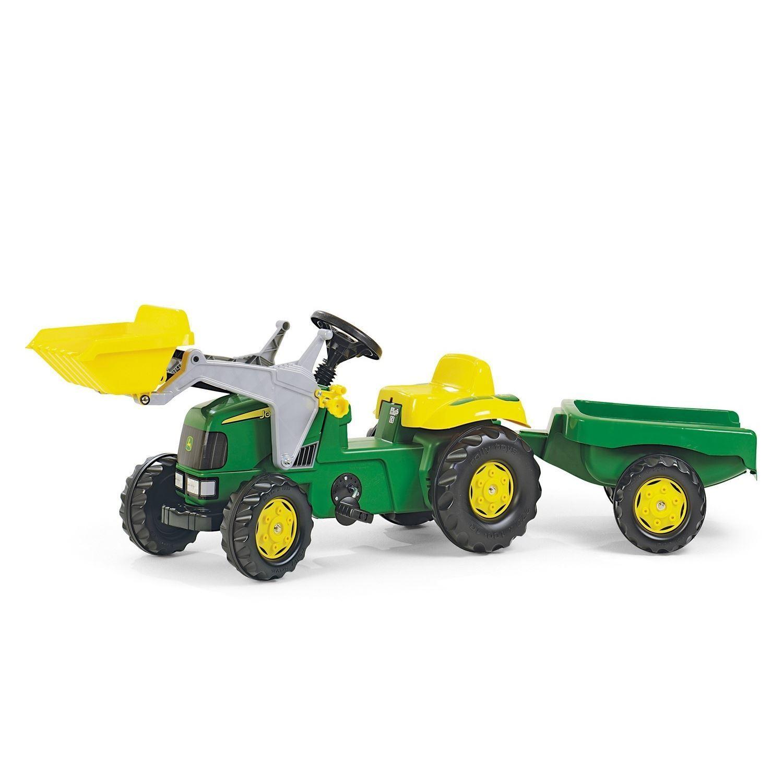 John Deere Rolly Niños Tractor de Pedales & Remolque