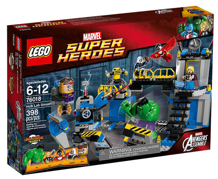 LEGO Super Heroes Hulk Lab Smash  76018  Nuovo Sealed