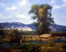 "Brett Smith ""Paradise Valley"" Fly Fishing Art Print 28"" x 22"""