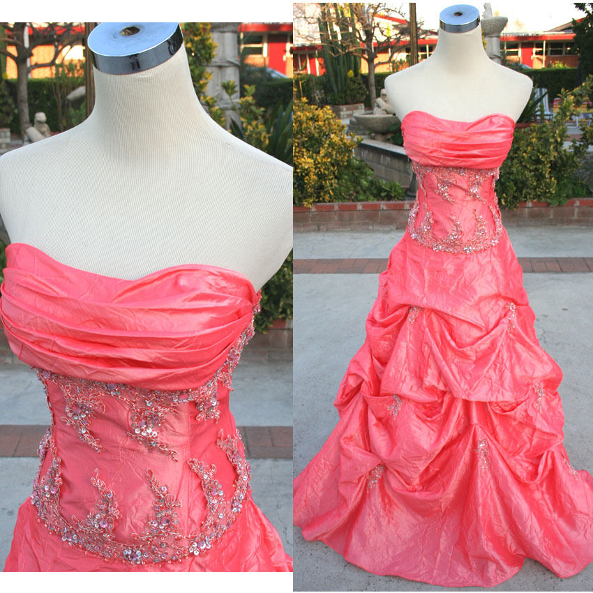 NWT ROBERTA  Coral Junior Prom Party Evening Gown 5