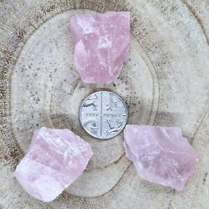 3-x-Rough-Jelly-Rose-Quartz-Crystals-Chunks-Madagascar-37-55g-CHOOSE-YOUR-SET
