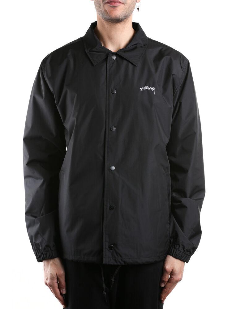 2019 DernièRe Conception Giubbino Stussy Checker Coah Jacket Nero 115431 Black Uomo Soyez Amical Lors De L'Utilisation